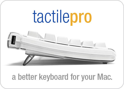 The wait is over.  The all-new, fully resigned Tactile Pro keyboard.