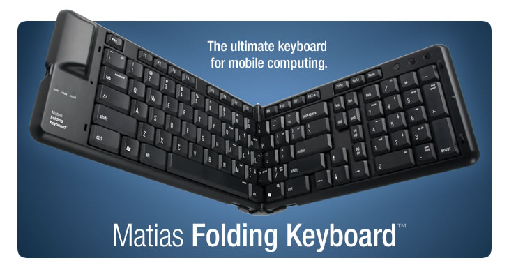 Matias Folding Keyboard - for your Mac or PC laptop, iPhone